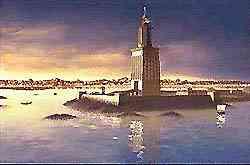 Reconstitution du Phare d'Alexandrie.